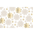 gold snowflakes luxury pastel color seamless vector image