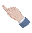 hand sign pointing finger vector image