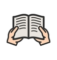 Holding Book vector image