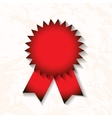 red award badge with ribbon vector image