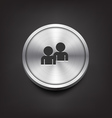 Metal Buddy Icon vector image