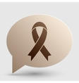 Black awareness ribbon sign Brown gradient icon vector image