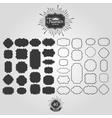 Set of frames for vintage logos vector image
