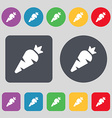 Carrot Vegetable icon sign A set of 12 colored vector image