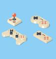 Gamepad and joystick set vector image