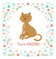 Cute little cat vector image vector image