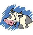 funny farm cow vector image