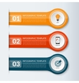 Abstract design template for infographics vector image