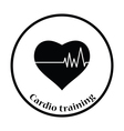 Icon of Heart with cardio diagram vector image