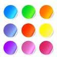 Colorful sticky web icons vector image