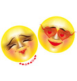 emoticons love vector image
