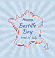Happy Bastille Day and 14th July vector image