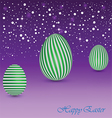 Happy Easter Background with a green Egg vector image