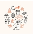 Japan Concept Travel vector image