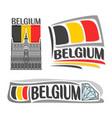 logo for belgium vector image