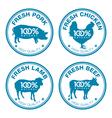 Set of fresh meat labels vector image