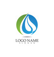water nature logo and symbols template icons app vector image