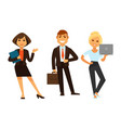 business people icons of manager clerk and vector image