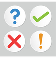 A set of four simple web buttons vector image