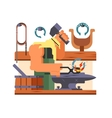 Blacksmith character cartoon vector image