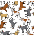 Cow color pattern vector image