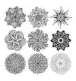 Geometric circular ornament set Isolated vector image