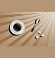 good morning cup of coffee vector image