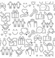 line style icons seamless pattern relationship vector image