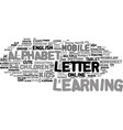 m-learning word cloud concept vector image