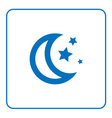 Moon stars icon vector image