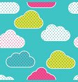 seamless pattern with colorful clouds silhouettes vector image