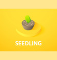 seedling isometric icon isolated on color vector image