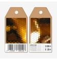 tags design on both sides cardboard sale vector image