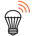 Wireless LED light icon vector image