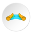 Ancient scroll map icon cartoon style vector image