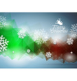 Merry Christmas with snowflakes vector image vector image