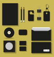 black mock upstemplates for business vector image