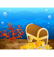 Underwater treasure vector image