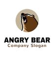 Angry Bear Logo vector image