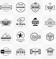 Set of Minimal and Clean Vintage Hipster Logotype vector image