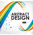 Abstract background with curve lines vector image vector image