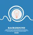 Light lamp sign icon Idea symbol Lightis on Blue vector image