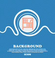 Bookshelf icon sign Blue and white abstract vector image