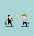 Businessman trading ideas vector image