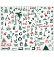 Christmas icons sketch drawing for your design vector image