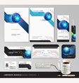 Corporate identity business set design Abstract vector image