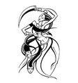hindu goddess kali vector image
