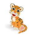 little tiger cub vector image