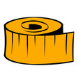 measuring tape icon icon cartoon vector image