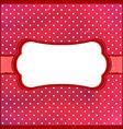 Polka dot vintage frame vector image